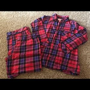 Victoria's Secret Flannel PJ Set